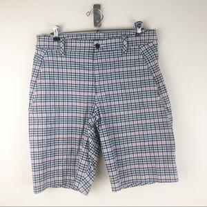 Men's Lululemon 34 Kahuna Shorts Black Pink Plaid